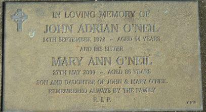 John Adrian and Mary Ann O'Neill