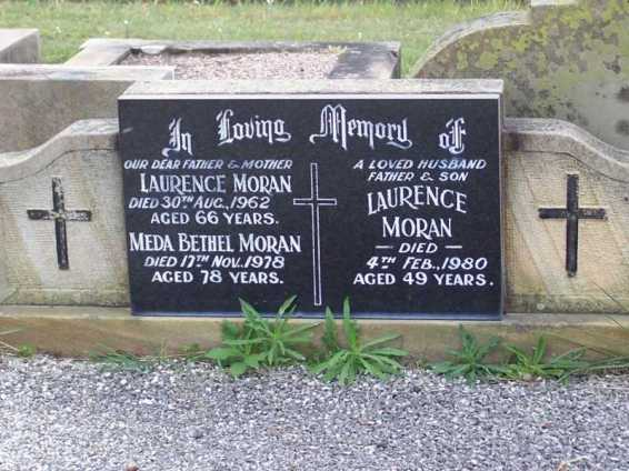 Laurence and Meda Bethel Moran
