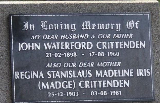Madge Crittenden headstone