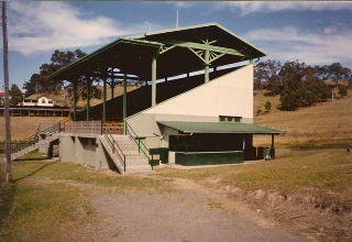 web Grandstand at Dungog showground 1994
