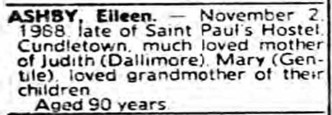 Eileen Ashby death notice